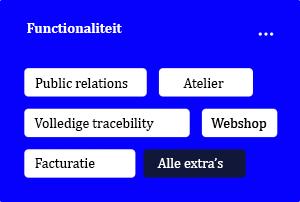 functionaliteiten exquistudio
